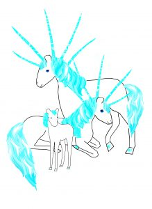 unicorns with five horns